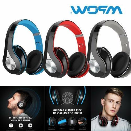 Mpow 059 Bluetooth 4.1 Headphone Hi-Fi Wireless Stereo Mic F