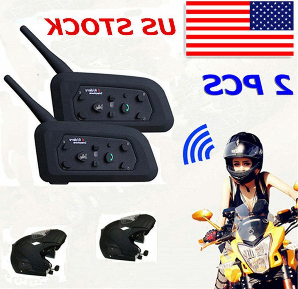 2 x bt bluetooth motorcycle helmet interphone