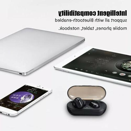 2019 New Bluetooth Headphone with Charging Case Earbuds