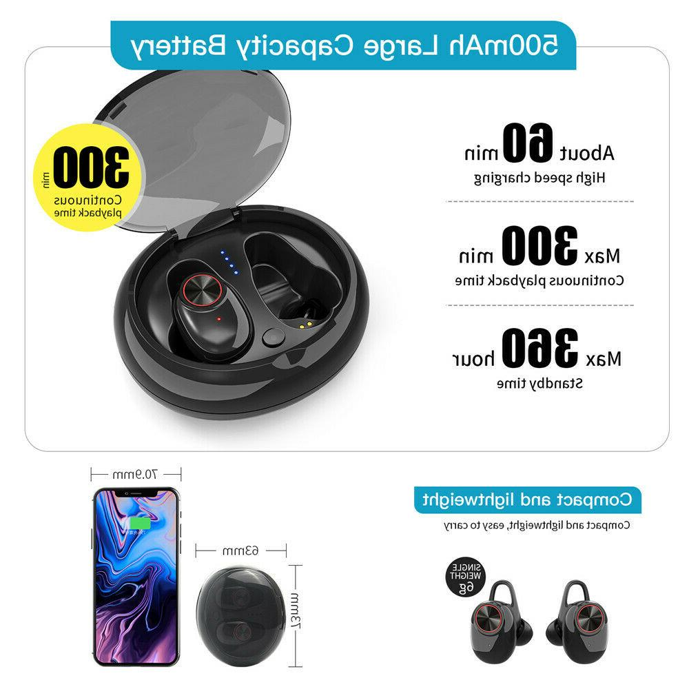 2019 Wireless Bluetooth 5.0 Earphone Ear with Charger Box Earbud