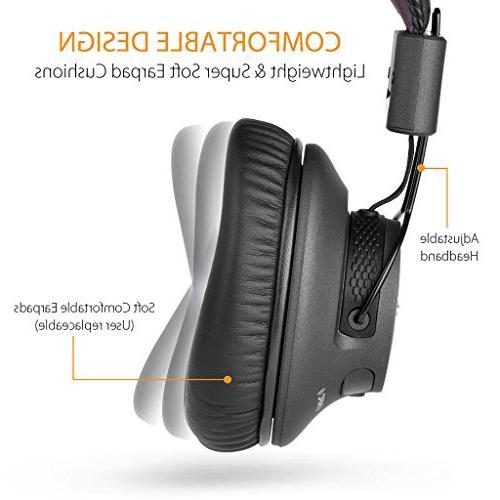 Avantree hr Bluetooth Headphones APTX Audio Computer with Wired - Audition Pro