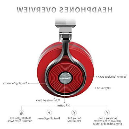 Bluedio T3 Bass Bluetooth Headphones with Driver Folding Wireless Headset, Wired and for Cell Phone/TV/ PC