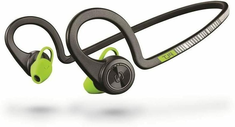 Plantronics BackBeat Bluetooth Waterproof Earbuds with On-Ear Controls for Running and Black Core