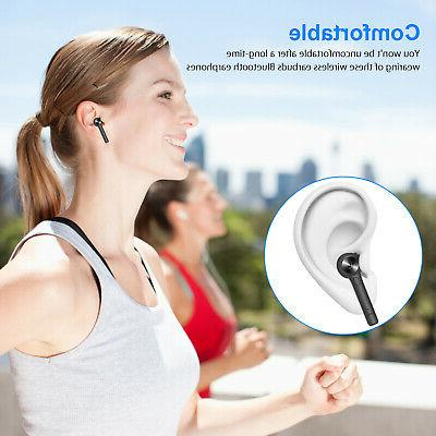 Wireless 5.0 Earbuds Headsets Stereo Headphones