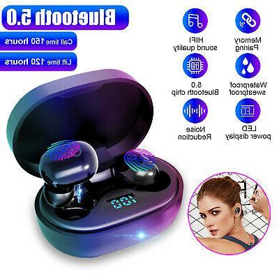 Wireless Bluetooth 5.0 TWS Headphone Headset Mini Stereo Tou