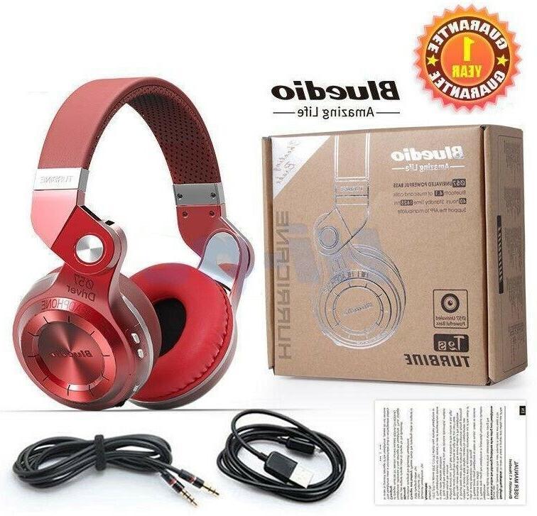 Bluedio T2 Plus 4.1 Headsets Wireless Headphone Universal