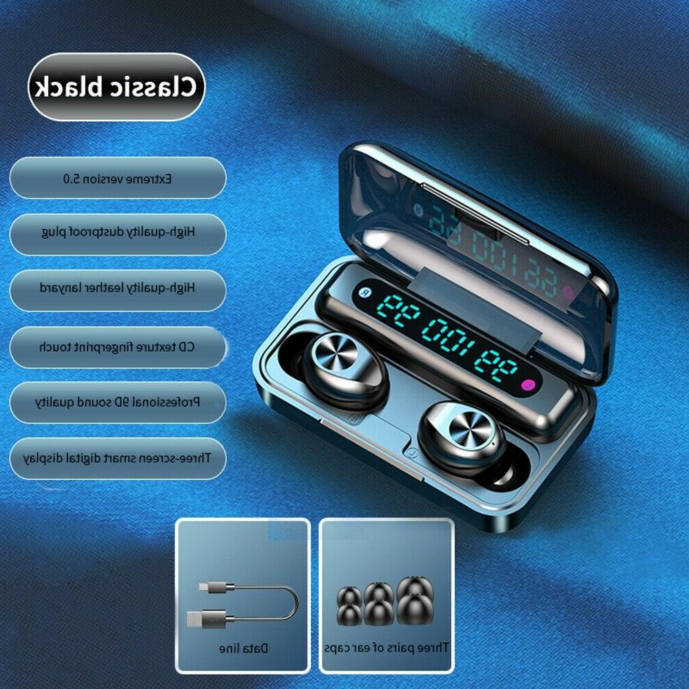 Bluetooth 5.0 earbud TWS wireless headset noise waterproof headphone