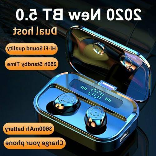 2020 Waterproof Bluetooth Earbuds Headphones Wireless Headse