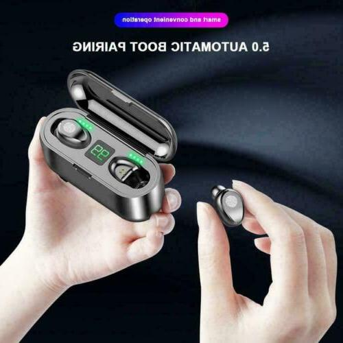 TWS Bluetooth 5.0 Headset Earphones Stereo Dual