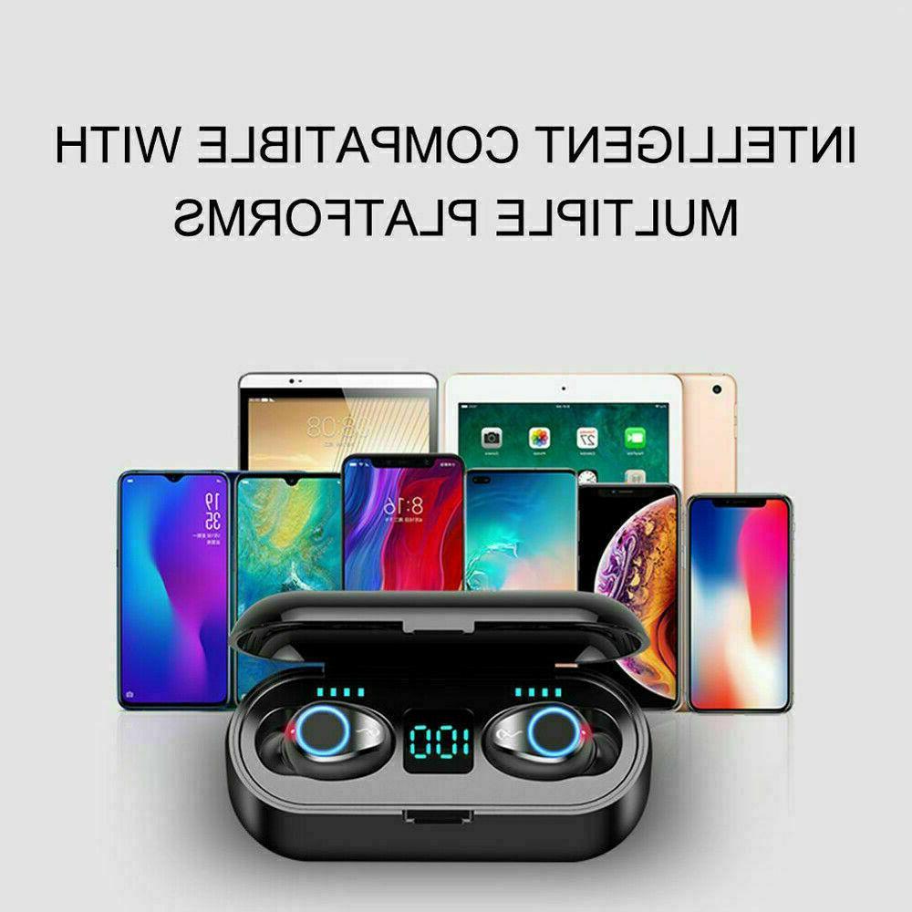 Bluetooth 5.0 Earbuds Wireless Earphones TWS Stereo Deep Bass