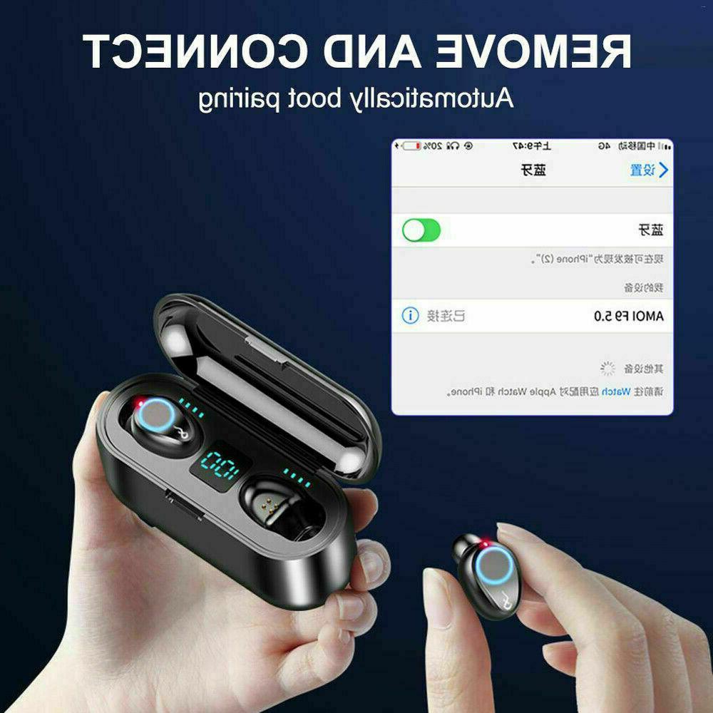 Bluetooth Earbuds Wireless Earphones TWS Bass in-Ear