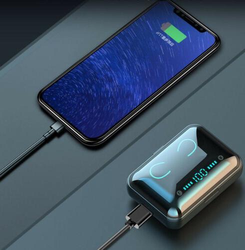 Bluetooth 5.0 Wireless Earphones TWS Stereo Bass in-Ear Headphones