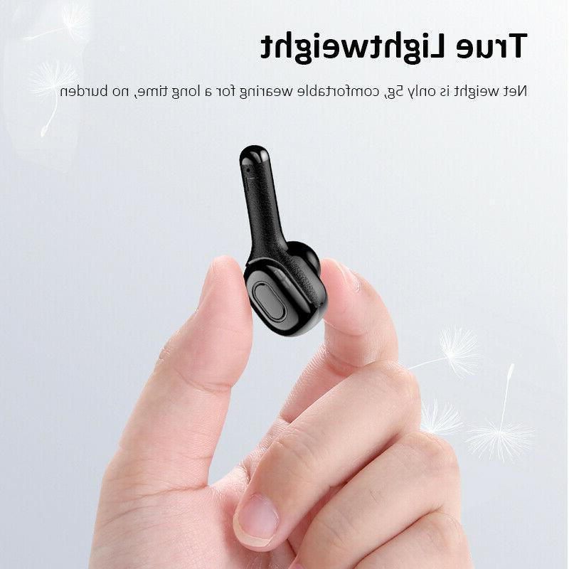 Bluetooth earbuds wireless headphone 5.0 noise waterproof