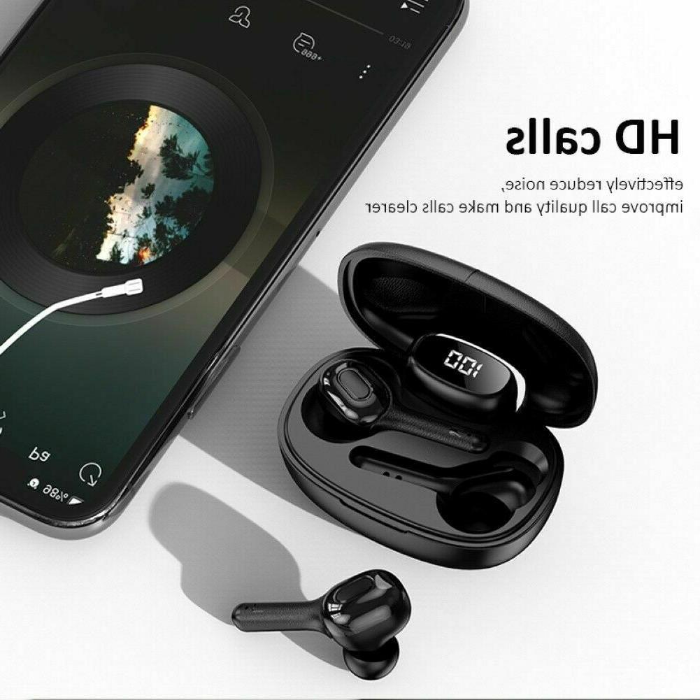 Bluetooth earbuds TWS wireless headphone 5.0 noise canceling