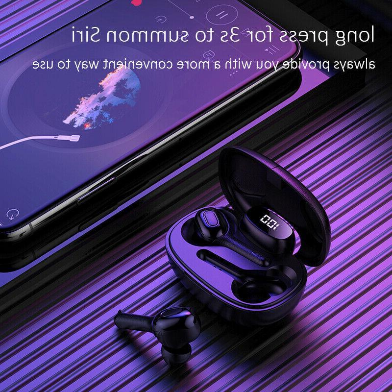 Bluetooth earbuds TWS wireless headphone 5.0 noise waterproof