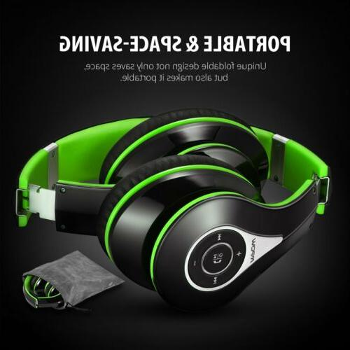bluetooth foldable headset over ear wireless stereo