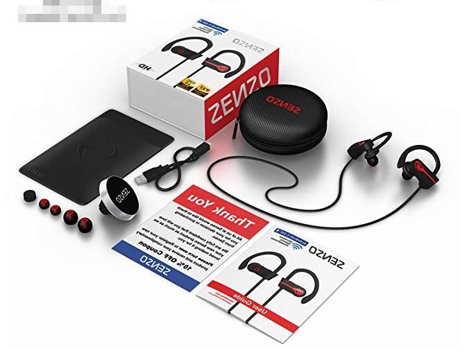 SENSO Wireless Sports Earphones Mic Waterproo