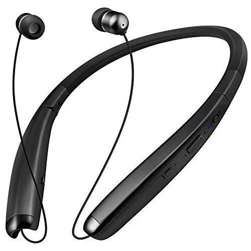 bluetooth headphones retractable neckband