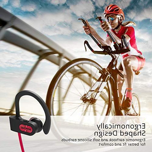 Mpow Flame Bluetooth Waterproof Wireless Earbuds Sport, Richer Bass HiFi Stereo in-Ear Case, Hrs Playback Noise Headsets