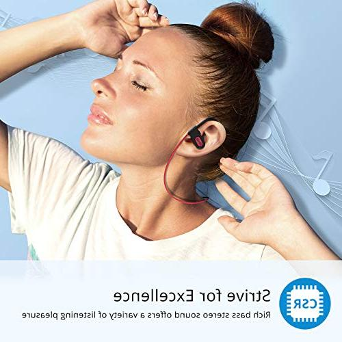 Mpow Bluetooth Waterproof IPX7, Sport, Stereo w/Mic, Case, Noise Cancelling Headsets