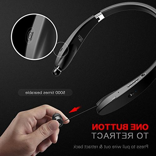 Bluetooth Headphones Wireless Neckband Headset Earphones Mic, Earbud Hours Play Time for iPhone Android Cellphone Tablets