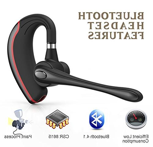 Bluetooth Headset, Wireless Earpiece for Business/Office/Driving