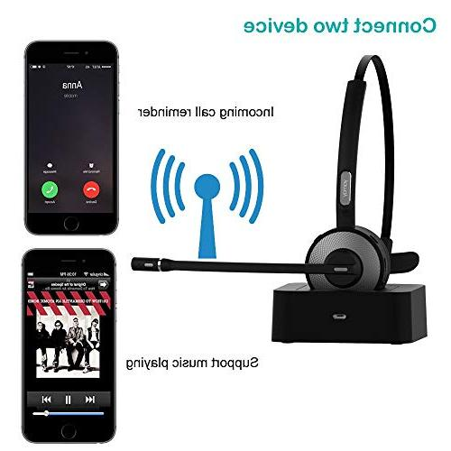 Bluetooth Headset Microphone Charging Trucker Call Office Phones