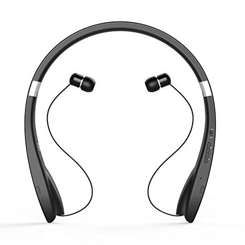 Bluetooth Headphone Wireless with Retractable for Android, Bluetooth Enabled
