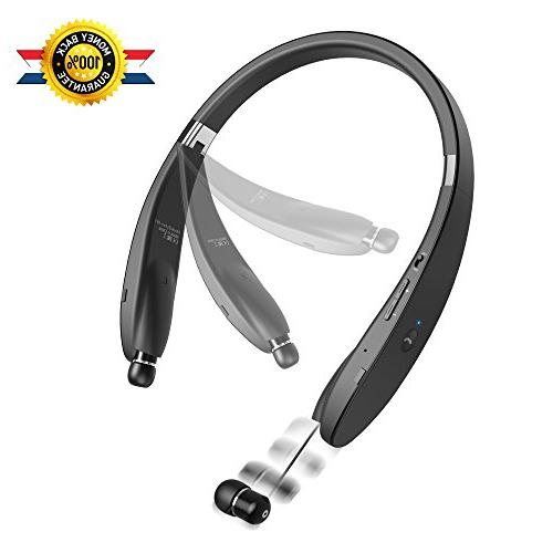 Bluetooth Headset Wireless Retractable Earbud for Android, Other Bluetooth Enabled Devices