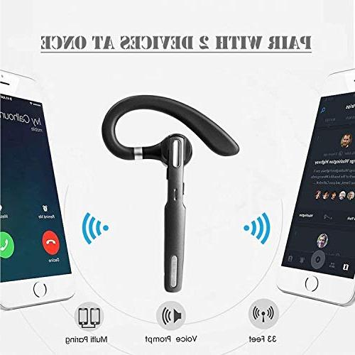 Bluetooth Earpiece V4.1Hands-Free Noise Driving/Business/Office, Compatible and