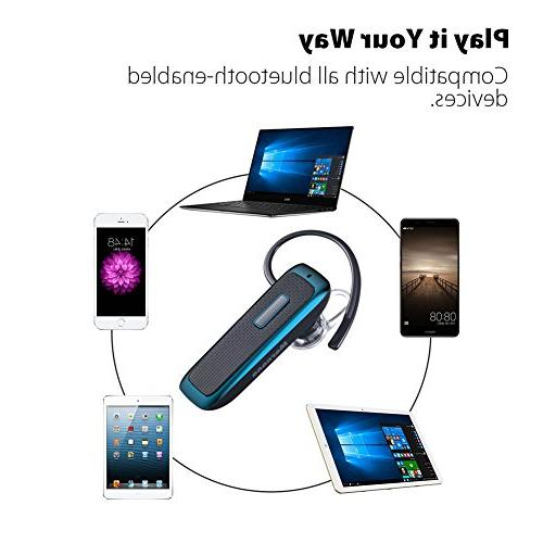 Bluetooth Wireless Bluetooth Earpiece w/ Playtime Mic,Ultralight Calls iPhone iPad Tablet Cell Phone Driver