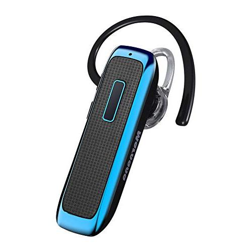 Bluetooth Headset, Wireless Earpiece 18 Mic,Ultralight Earbud Calls for iPhone iPad Tablet Samsung Android Phone