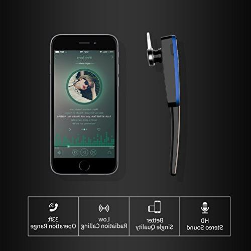 Bluetooth Headset, Business V4.1 Lightweight Noisy Suppression Bluetooth with for Phone/Laptop/Car
