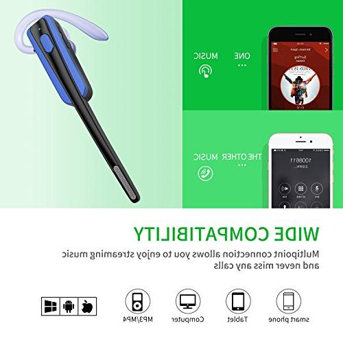 Bluetooth Headset, COMEXION Business Noisy Bluetooth with Microphone Phone/Laptop/Car