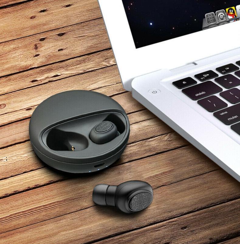 Bluetooth Headset Wireless Earbuds Earphones Black Headphone