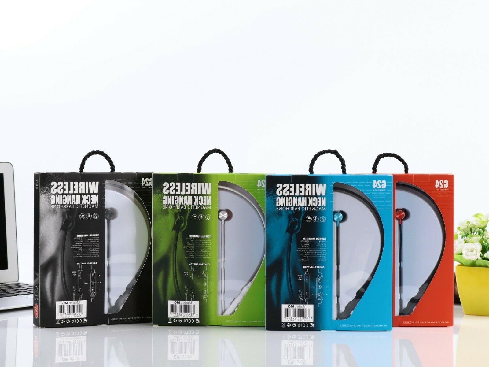 Bluetooth Magnetic Wireless Earbuds Sport Earphones