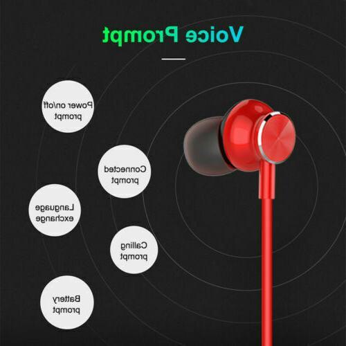 Bluetooth Neckband Wireless Earbuds Sport In-Ear Earphones