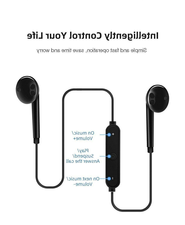 Bluetooth Wireless Earphone Neckband Sport Earbuds With Mic