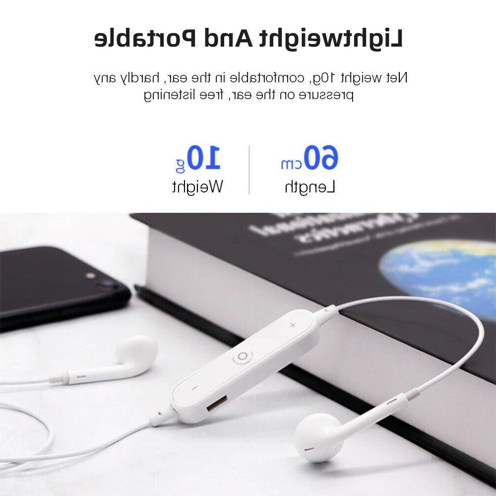Bluetooth Wireless Headphones Earphone Neckband Sport Earbuds With