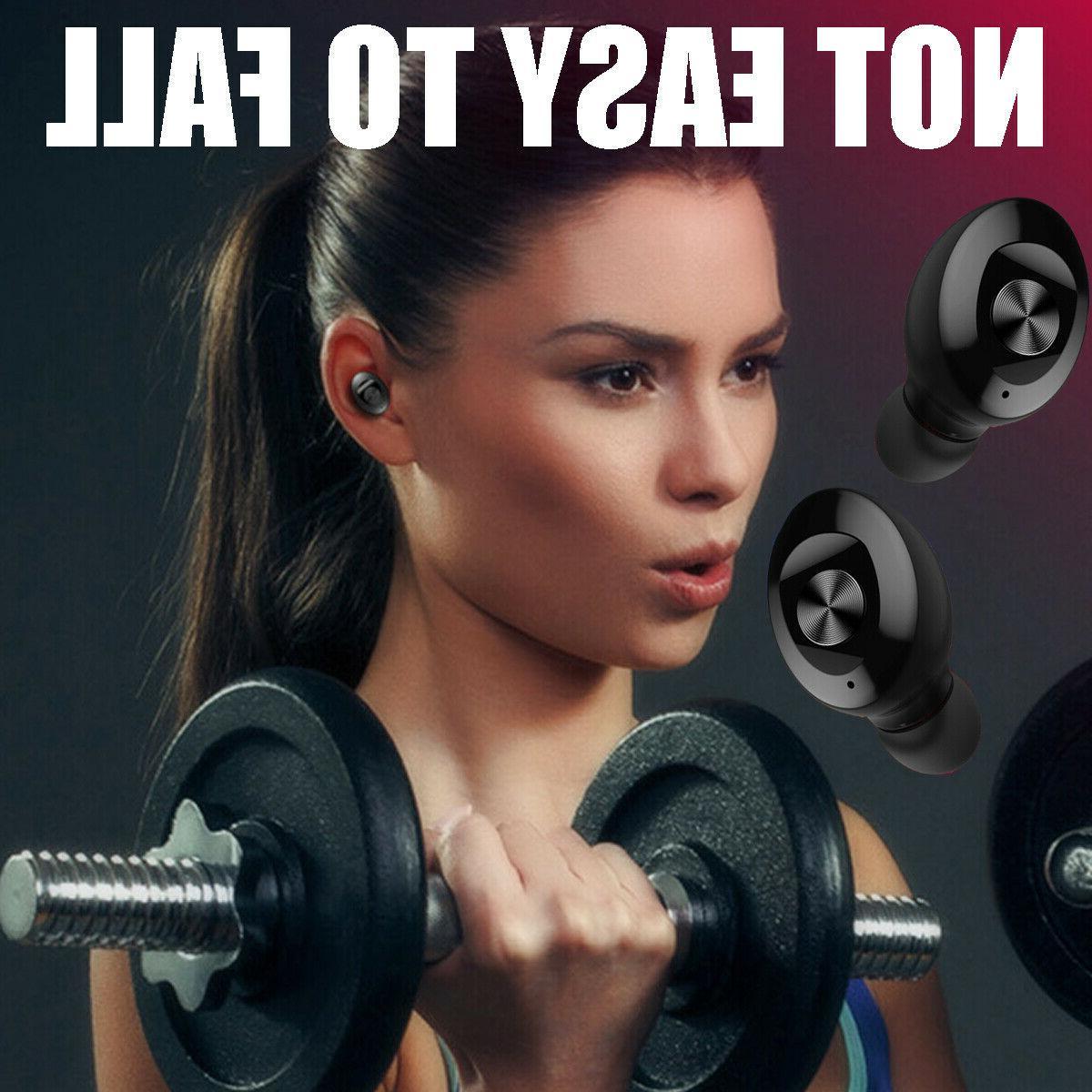 Dual Wireless bluetooth Earphone Earbuds IOS Universal ☆ @ % d