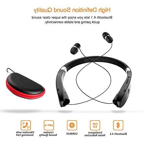 Foldable Bluetooth Lightweight Retractable for Sports&Exercise, Stereo