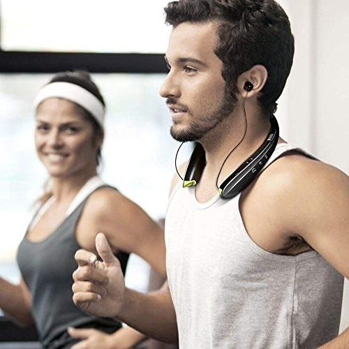 Foldable Bluetooth Headphones Earbuds,Bluetooth Sweat Sport with in Mic