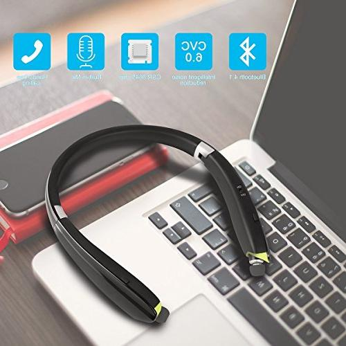 Foldable Bluetooth Headphones with