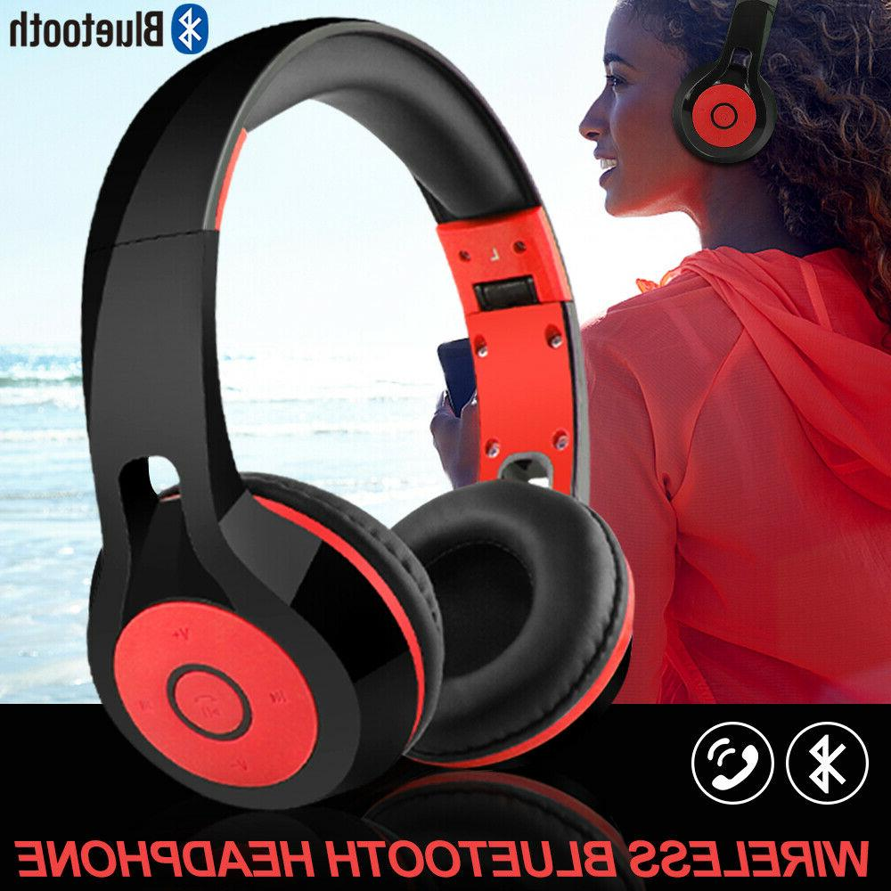 foldable bluetooth stereo headphones kids dj sports