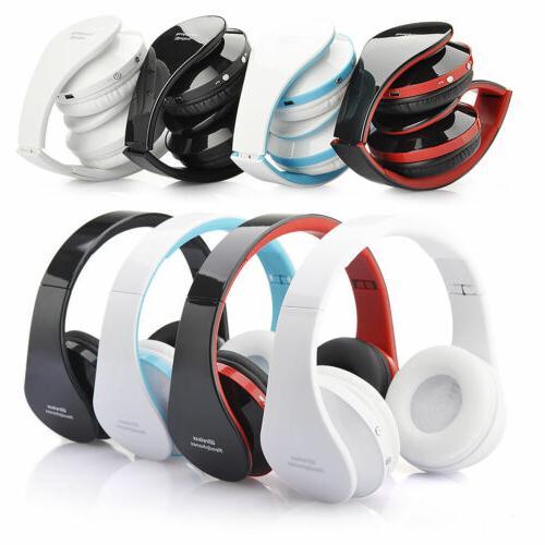 foldable wireless bluetooth headset stereo headphone