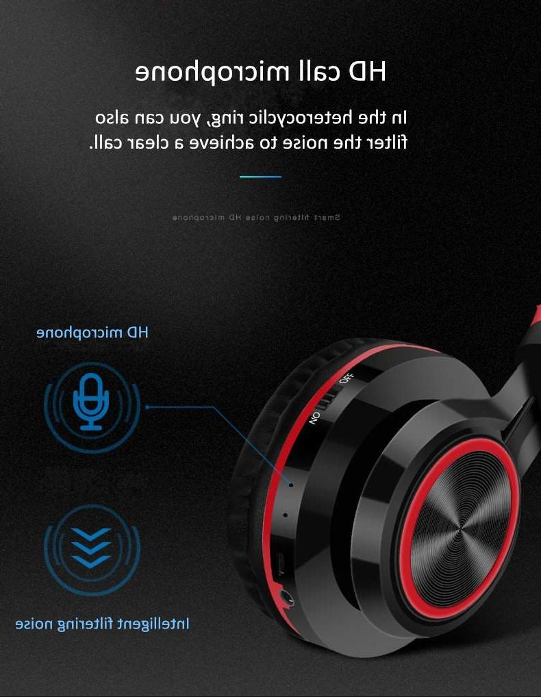 Foldable Wireless <font><b>bluetooth</b></font> FM SD/TF NFC MP3 player Heavy Headset Mic