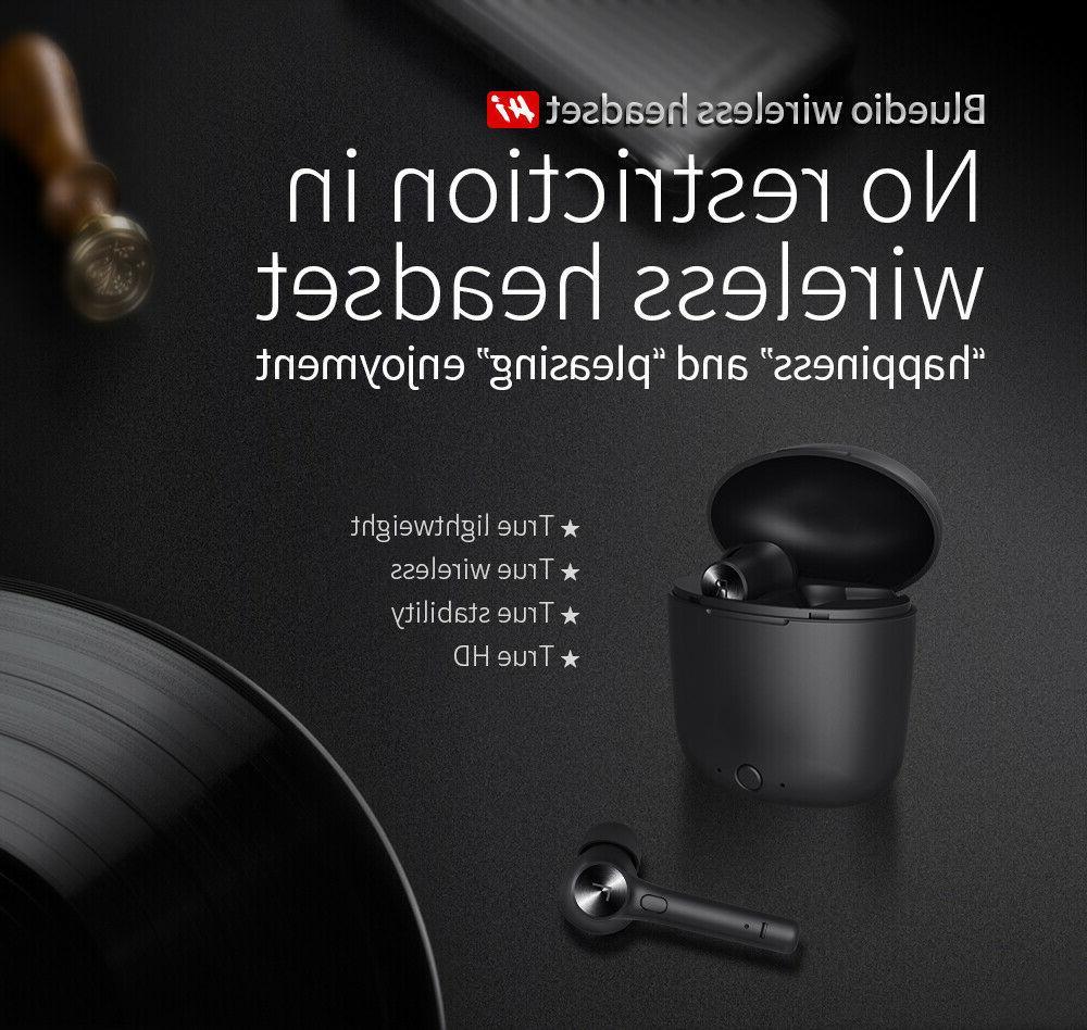 Bluedio bluetooth 5.0 earphone for phone stereo