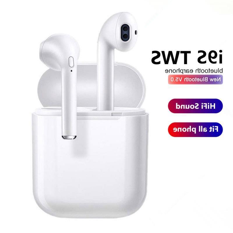I9s Tws <font><b>Bluetooth</b></font> Earphone Mini Earbuds Mic Charging Box Smart