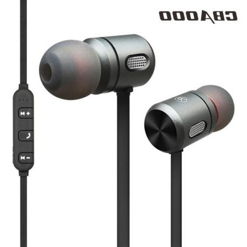 magnet wireless bluetooth headphone in ear earbuds
