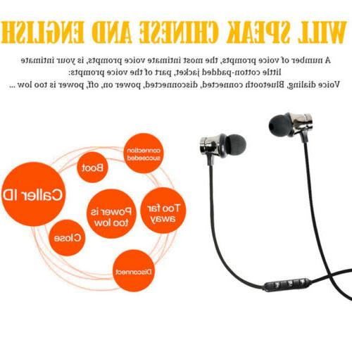 Magnetic Bluetooth Headset Stereo Earbuds